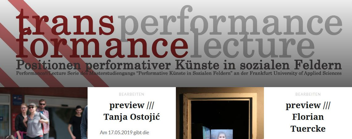 transformance lecture/performances